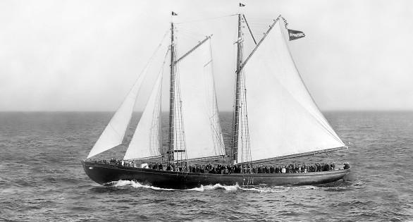 Under sail in 1926