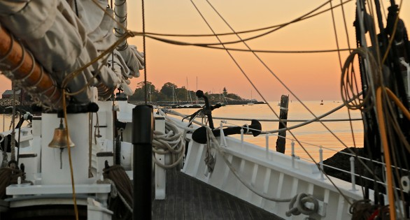 Sunset View from Schooner Adventure!
