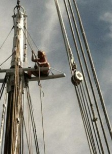 Finishing the rigging