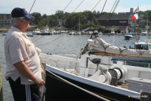 Jeff Thomas II seeing his grandfather's fishing schooner off